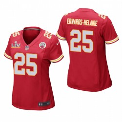 Chiefs Femmes Clyde Edwards-Helaire Super Bowl LV Game Maillot - Rouge