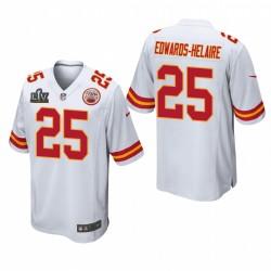 Kansas City Chiefs Clyde Edwards-Helaire Super Bowl LV jeu Maillot - Blanc