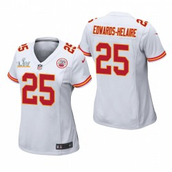 Chiefs Femmes Clyde Edwards-Helaire Super Bowl LV Game Maillot - Blanc