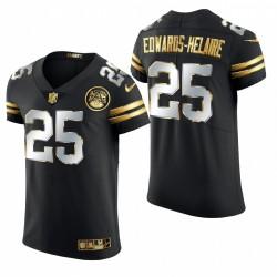 Kansas City Chiefs Clyde Edwards-Helaire Black -21 Golden Edition Elite Maillot