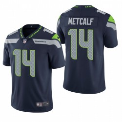 Homme DK Metcalf Seattle Seahawks Navy Vapor Limited Maillot