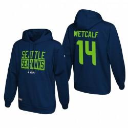 DK Metcalf Seattle Seahawks Navy School of Hard Knocks Pull Sweat à capuche