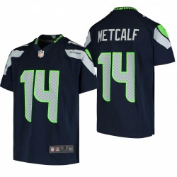 Youth Seattle Seahawks DK Metcalf Jeu Maillot - Navy