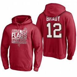 Tampa Bay Buccaneers Tom Brady Red Super Bowl LV Champions Parade Célébration Sweat à capuche