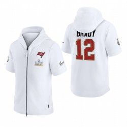 Tampa Bay Buccaneers Tom Brady White Super Bowl LV Diamond Showout Sweat à capuche