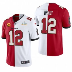 Tom Brady Tampa Bay Buccaneers Super Bowl LV Vapeur Split Limited Maillot - Rouge Blanc