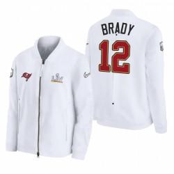 Tampa Bay Buccaneers Tom Brady Super Bowl LV Bound Diamond Coach Full-Zip Veste - Blanc