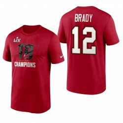 Tom Brady Tampa Bay Buccaneers Super Bowl LV Champions Rouge T-shirt local rouge