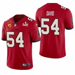 Tampa Bay Buccaneers Lavonte David Super Bowl LV Capitaine Patch Vapor Limited Maillot - Rouge