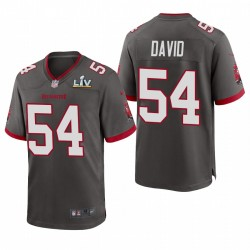 Tampa Bay Buccaneers Lavonte David Super Bowl LV Game Maillot - Gris