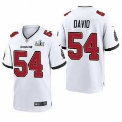 Tampa Bay Buccaneers Lavonte David Super Bowl LV Game Maillot - Blanc