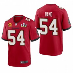 Lavonte David Buccaneers Super Bowl LV Capitaine Red Capitaine Jeu Maillot
