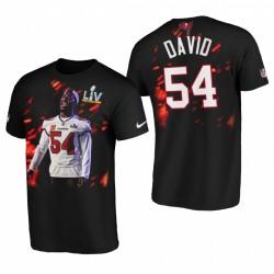 Lavonte David Tampa Bay Buccaneers Super Bowl LV Player T-shirt graphique - Noir
