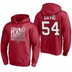 Tampa Bay Buccaneers Lavonte David Red Super Bowl LV Champions Célébration Sweat à capuche