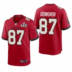 Tampa Bay Buccaneers Rob Gronkowski Super Bowl LV Game Maillot - Rouge