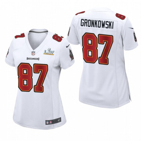 Buccaneers pour femmes Rob Gronkowski Super Bowl LV Game Mode Maillot - Blanc
