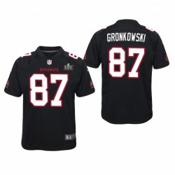Jeunesse Tampa Bay Buccaneers Rob Gronkowski Super Bowl LV Game Maillot - Noir