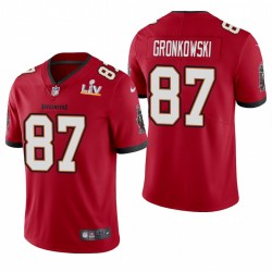 Tampa Bay Buccaneers Rob Gronkowski Super Bowl LV Vapeur Limited Maillot - Rouge