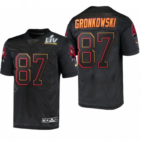 Tampa Bay Buccaneers Rob Gronkowski Super Bowl LV Maillot - Noir