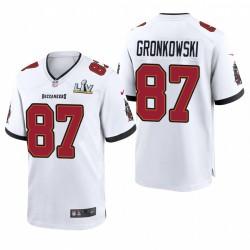 Tampa Bay Buccaneers Rob Gronkowski Super Bowl LV Game Maillot - Blanc