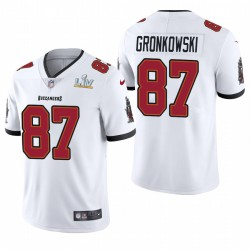Tampa Bay Buccaneers Rob Gronkowski Super Bowl LV Vapor Limited Maillot - Blanc