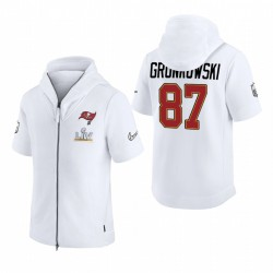 Tampa Bay Buccaneers Rob Gronkowski White Super Bowl LV Diamond Showout à capuche à capuche