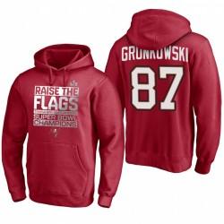 Tampa Bay Buccaneers Rob Gronkowski Red Super Bowl LV Champions Sweat à capuche de célébration