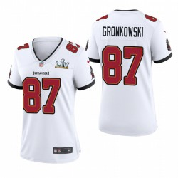 Buccaneers pour femmes Rob Gronkowski Super Bowl LV Game Maillot - Blanc