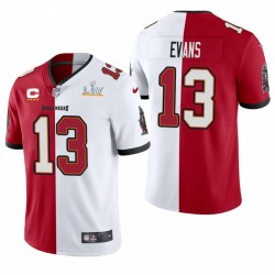 Mike Evans Tampa Bay Buccaneers Super Bowl LV Vapeur Split Limited Maillot - Rouge Blanc