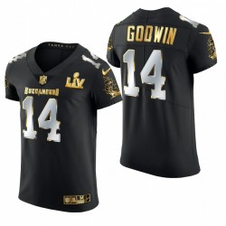 Tampa Bay Buccaneers Chris Godwin Super Bowl LV Black Golden Edition Elite Maillot