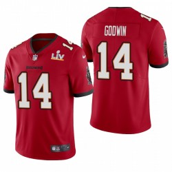 Tampa Bay Buccaneers Chris Godwin Super Bowl LV Vapeur Limited Maillot - Rouge
