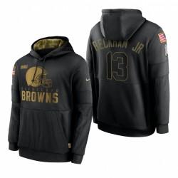 Homme Cleveland Browns Odell Beckham Jr. Noir Salute de Salut Sideline Sweet Sweat à capuche Publicité