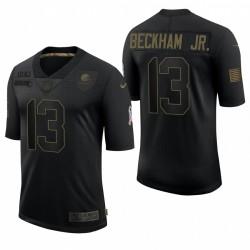 Hommes Cleveland Browns Odell Beckham Jr. Noir Salut à Service Limited Maillot
