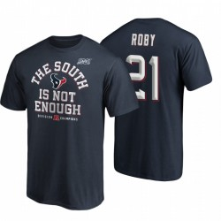 Houston Texans Bradley Roby Navy Couverture de Navy Deux T-shirt