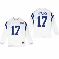 Philip Rivers Indianapolis Colts White Super Bowl XLI Retour à manches longues Maillot