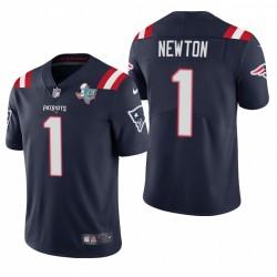 Cam Newton New England Patriots Super Bowl Li Patch Navy Vapor Limited Maillot