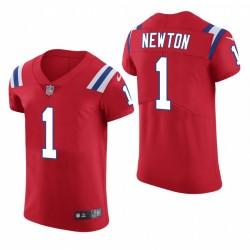 Cam Newton Nouvelle Angleterre Patriots Rouge Vapeur Elite Maillot