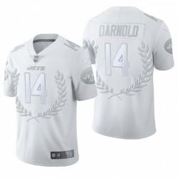 Men's Sam Darnold New York Jets Vapeur Blanc Limited Platinum Maillot