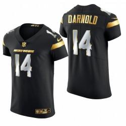 Jets de New York Sam Darnold Black -21 Golden Edition Elite Maillot