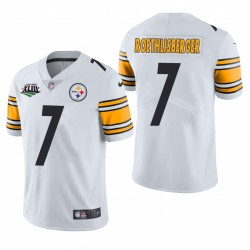 Ben Roethlisberger Pittsburgh Steelers Super Bowl XLIII Patch Blanc Vapeur Limited Maillot