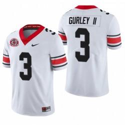 Georgia Bulldogs Todd Gurley II White College Football 40e anniversaire Alternate Maillot