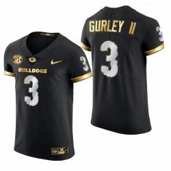 Todd Gurley II Georgia Bulldogs BLACK -21 GOLDEN Edition authentique Maillot