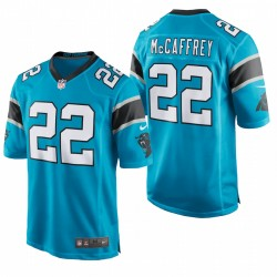 Caroline Panthers 22 Christian McCaffrey Blue Game Maillot
