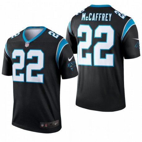 Panthers 22 Christian McCaffrey Black Legend Maillot