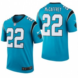 Panthers 22 Christian McCaffrey Blue Color Color La légende Maillot