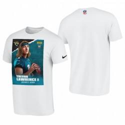 Trevor Lawrence Jaguars Jaguars 2021 NFL Joueur Draft T-shirt graphique - Blanc