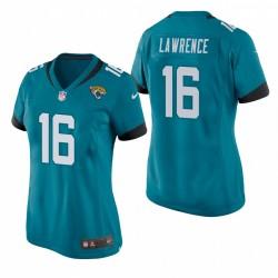 Jacksonville Jaguars Trevor Lawrence Teal 2021 NFL Projet de jeu Maillot