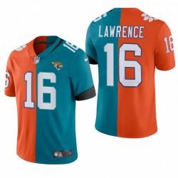 Trevor Lawrence Jaguars Jaguars Teal Orange 2021 NFL PROJET DE VAPEUR LIMITED MAILLOT