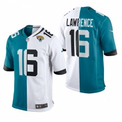 Trevor Lawrence Jaguars Jaguars Teal White 2021 NFL PROJET DE JEU SPLIT MAILLOT