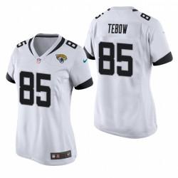 Femmes Jacksonville Jaguars Tim Tebow Game White Maillot